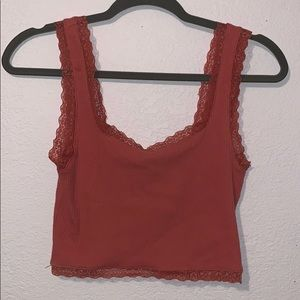 Knitted lace tank top
